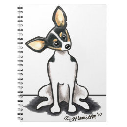 Tricolor Rat Terrier Sit Pretty Notebook