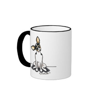 Tricolor Rat Terrier Sit Pretty Ringer Mug