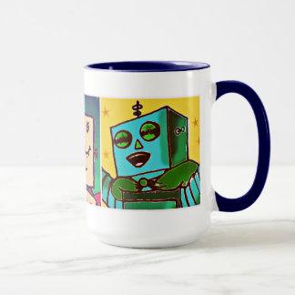 Tricolor Robots Mug