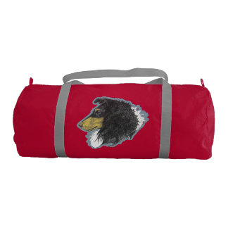 Tricolor Rough Collie Duffle Bag