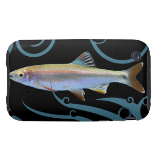 Tricolor Shiner with Stylized Waves Tough iPhone 3 Covers