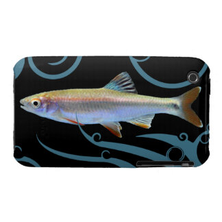 Tricolor Shiner with Stylized Waves iPhone 3 Covers