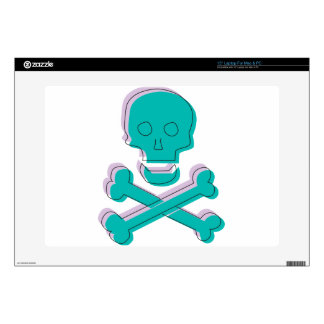 Tricolor Skull Decal For Laptop