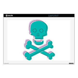 Tricolor Skull Laptop Decal