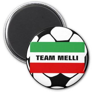 "Tricolor ""TEAM MELLI"" 2 Inch Round Magnet"