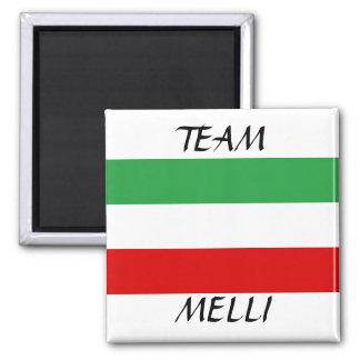 "Tricolor ""TEAM MELLI"" 2 Inch Square Magnet"