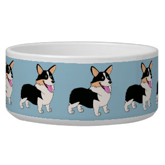 Tricolor Welsh Corgi Cartoon Bowl