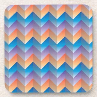 TriColor ZigZag Coaster Set