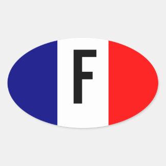Tricolore Français Oval Sticker