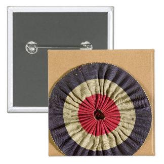 Tricolore rosette pins