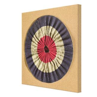 Tricolore rosette canvas print
