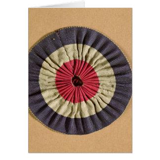 Tricolore rosette card