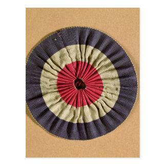 Tricolore rosette postcard