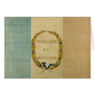 Tricolore with the motto 'Live Free or Die' Card