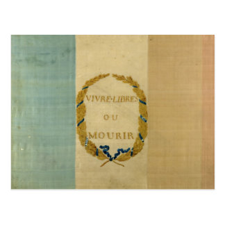 Tricolore with the motto 'Live Free or Die' Postcard