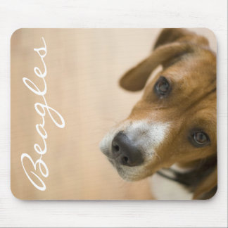 Tricolored Beagle Dog Background Mouse Pads