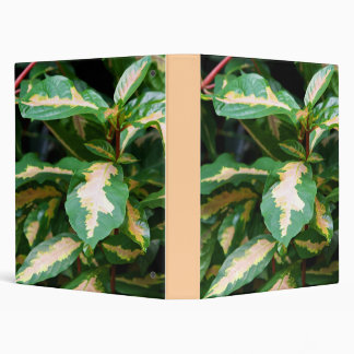 Tricolored Caricature Plant 3-Ring Binder
