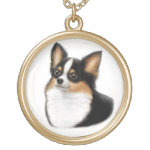 Tricolored Chihuahua Dog Necklace
