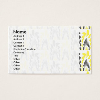 Tricolored geometric pattern business card