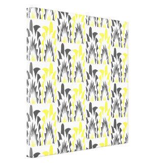 Tricolored geometric pattern canvas print