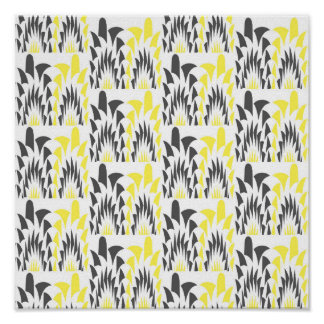 Tricolored geometric pattern poster
