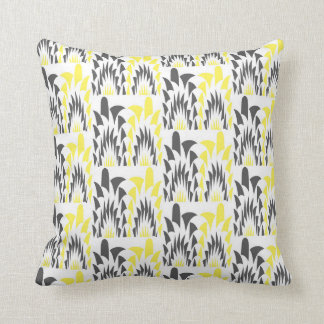 Tricolored geometric pattern throw pillow