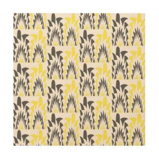 Tricolored geometric pattern wood wall decor