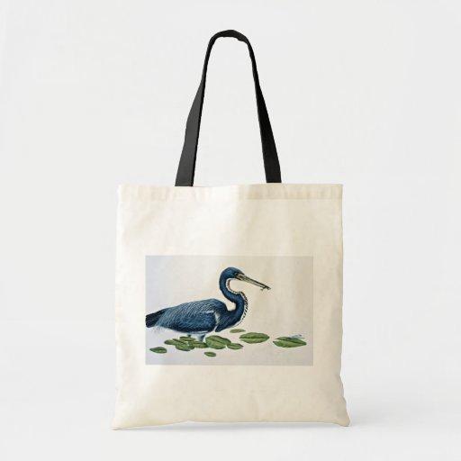 Tricolored heron budget tote bag
