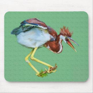 Tricolored Heron, Humor, Mousepad