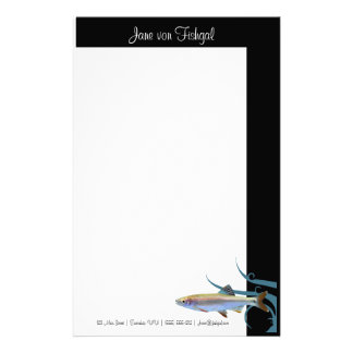 Tricolored Shiner Fish Stationery