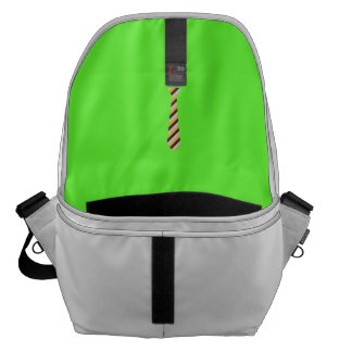 Tricolored Tie Courier Bag