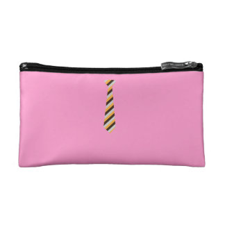 Tricolored Tie Makeup Bags