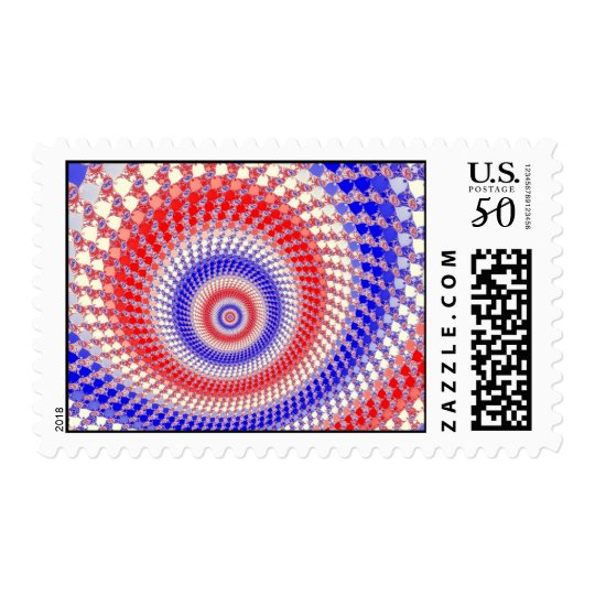 Tricolour Roundalls Postage Stamp