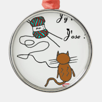 TRICOT.png CAT Metal Ornament