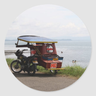 Tricycle at the San Pedro Bay Classic Round Sticker
