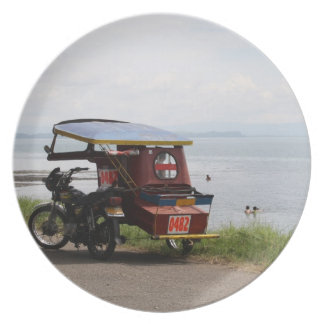 Tricycle at the San Pedro Bay Melamine Plate