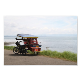 Tricycle at the San Pedro Bay Photo Print