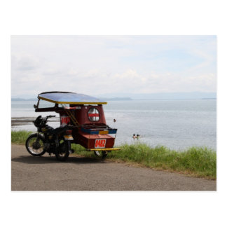 Tricycle at the San Pedro Bay Postcard