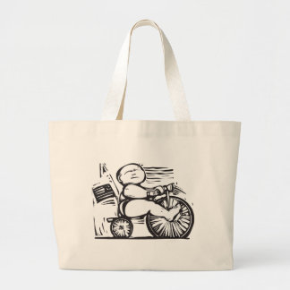 Tricycle Baby Large Tote Bag