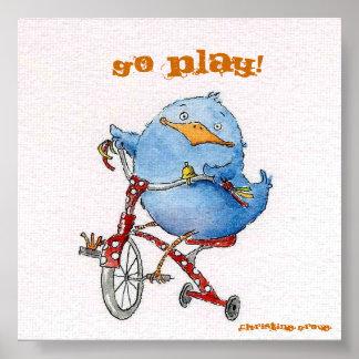 Tricycle Birdie Poster