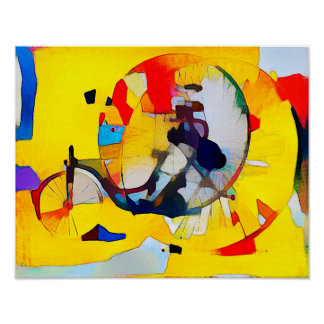 Tricycle Composition - Art On Canvas Poster