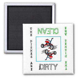 Tricycle Dirty Clean Dishwasher Magnet
