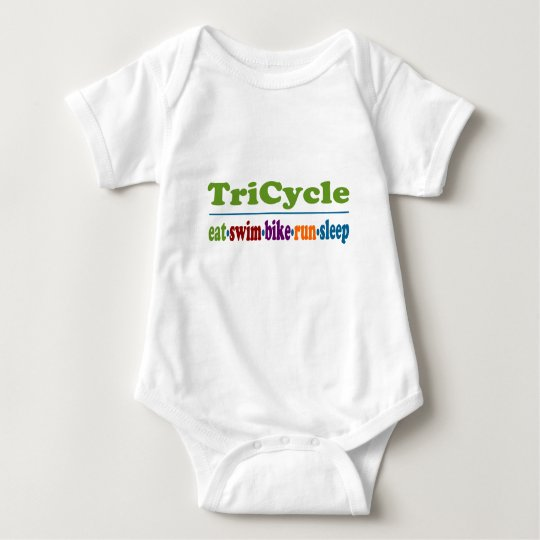TriCycle in Color Baby Bodysuit
