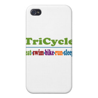 TriCycle in Color iPhone 4 Covers