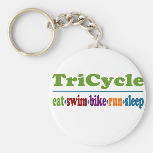 TriCycle in Color Key Chain