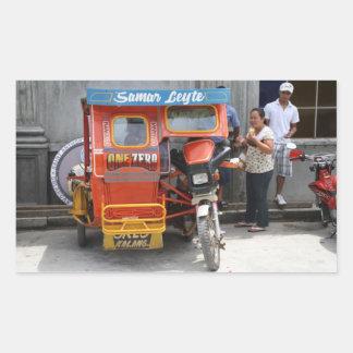 Tricycle Rectangular Sticker