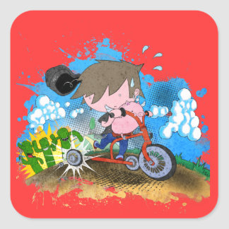 Tricycle Square Sticker