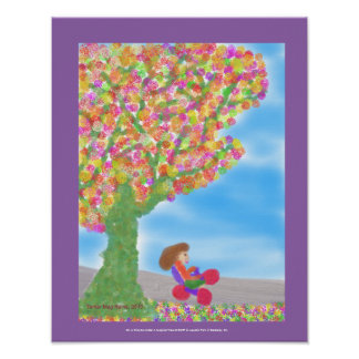 Tricycle Under A Magical Tree Poster