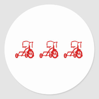 tricycles classic round sticker