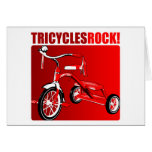 Tricycles Rock! Greeting Card